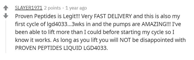 proven peptides reddit review