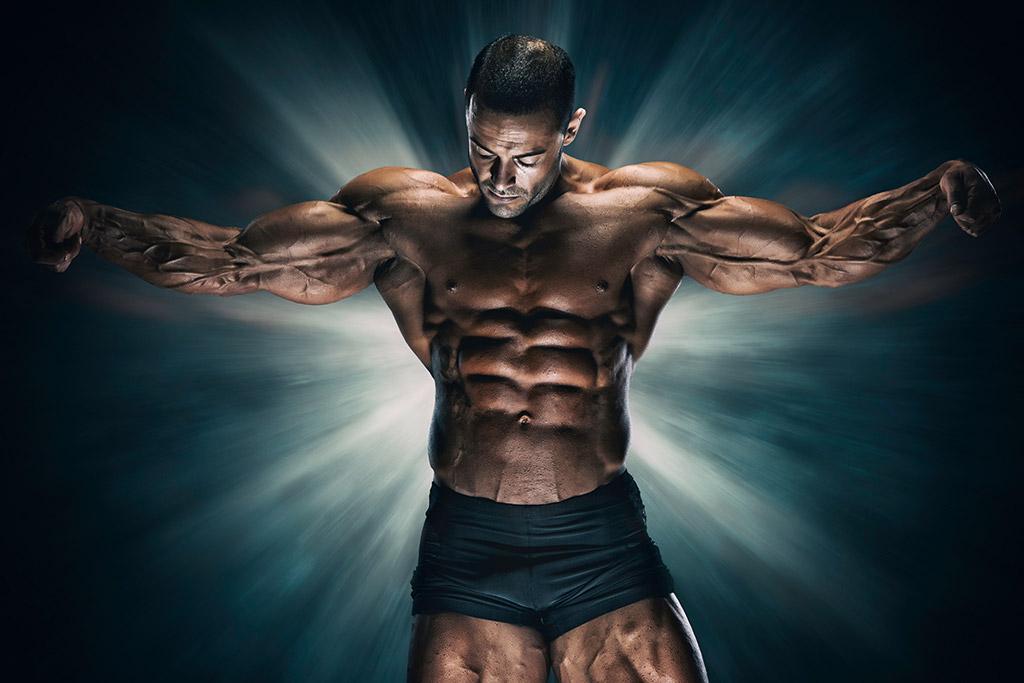 man on steroids